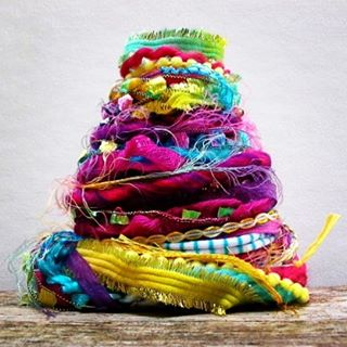 RecycledThis colorful bundle is made with one recycled tee shirthellip