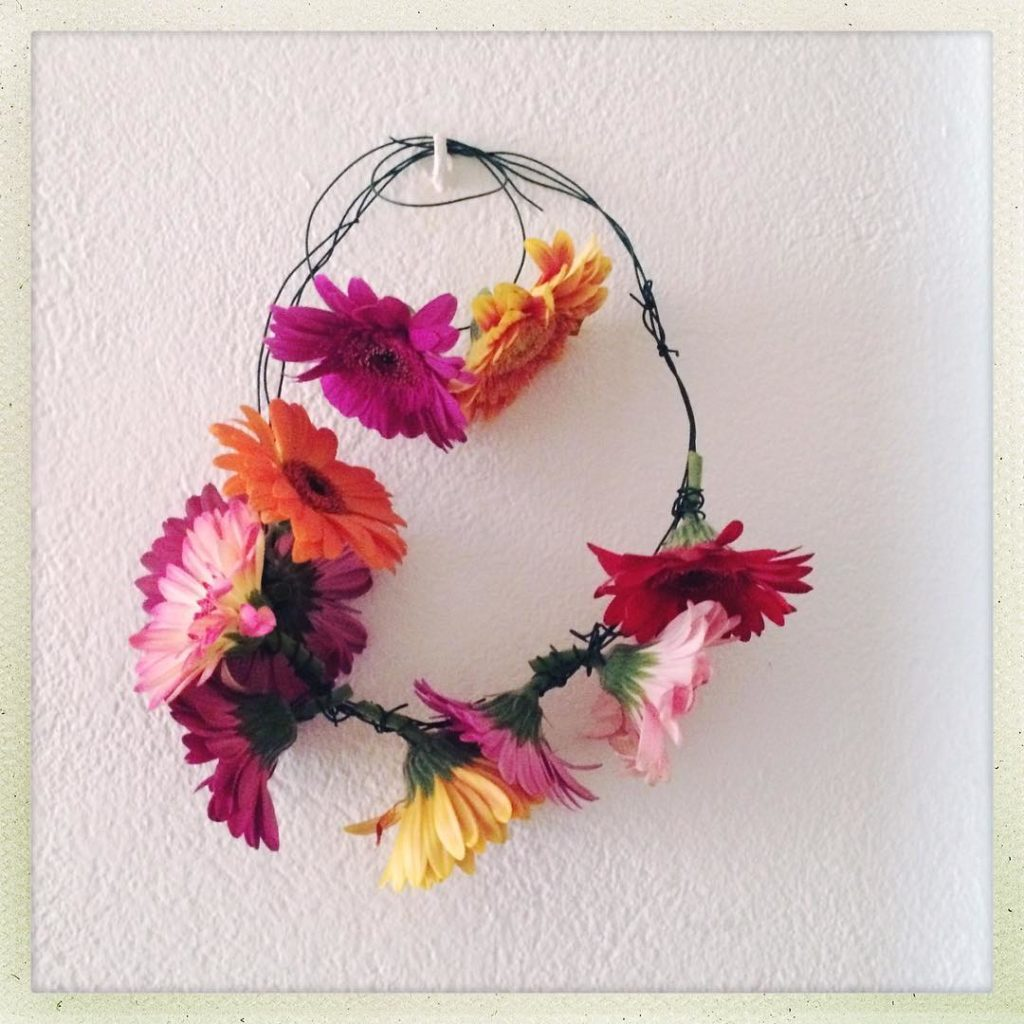 Gerbera Daisy necklace and bracelet I made to wear tohellip
