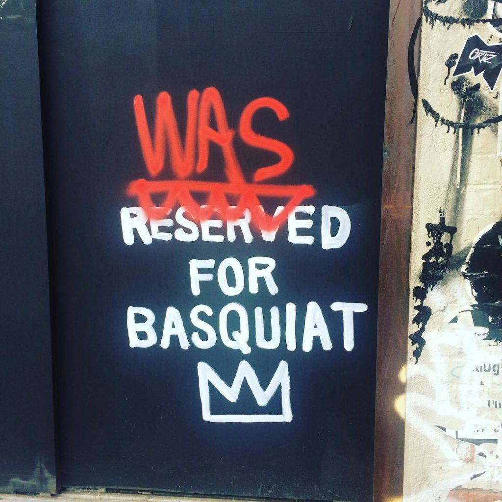 Was reserved for Basquiat Just walked by this in NYChellip