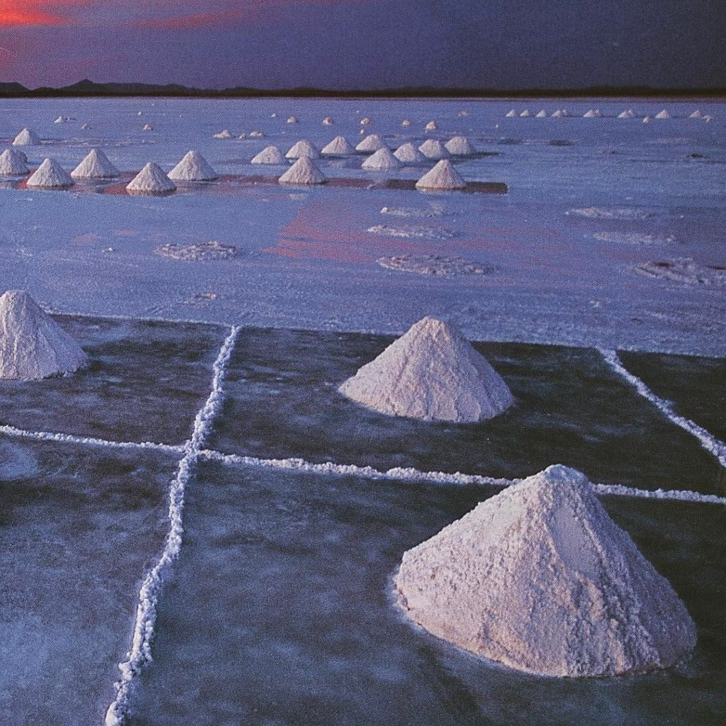 Salar de Uyuni Bolivia Salt dug from the worlds largesthellip