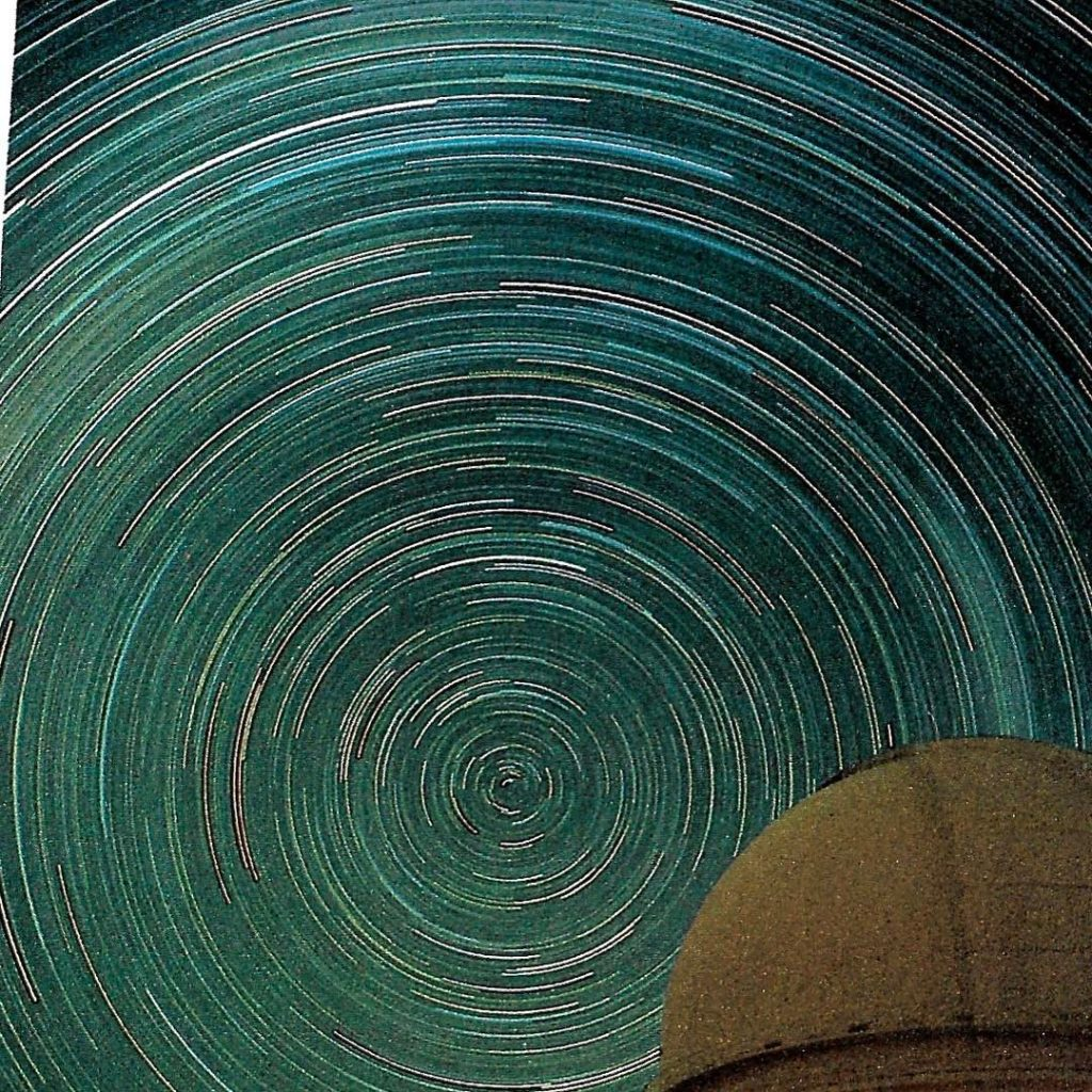 EarthMagic A time exposure traces the stars of the Southernhellip