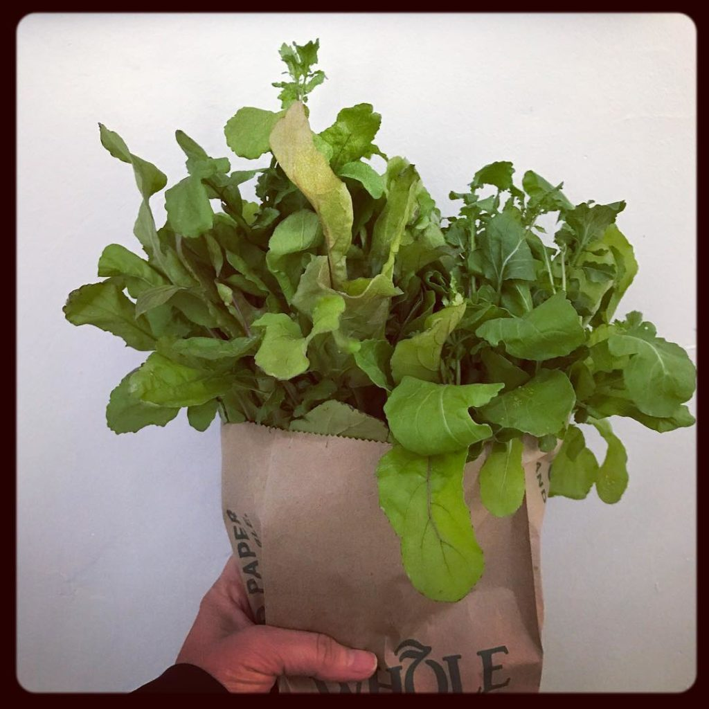 Yesterdays Lunch! I bought 2 bunches of delicious arugula grownhellip