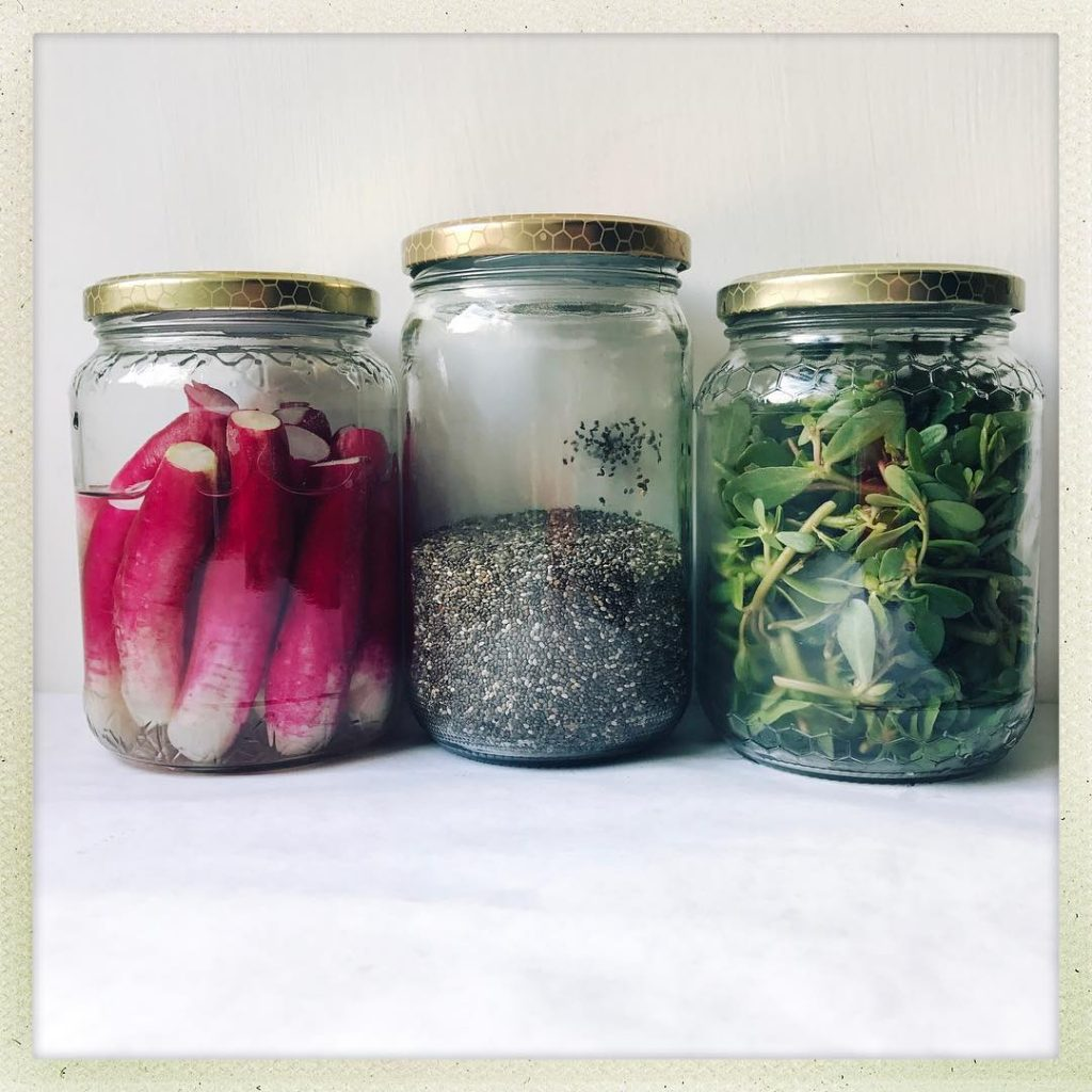French radishes  Chia seeds  Purslane Im obsessed withhellip