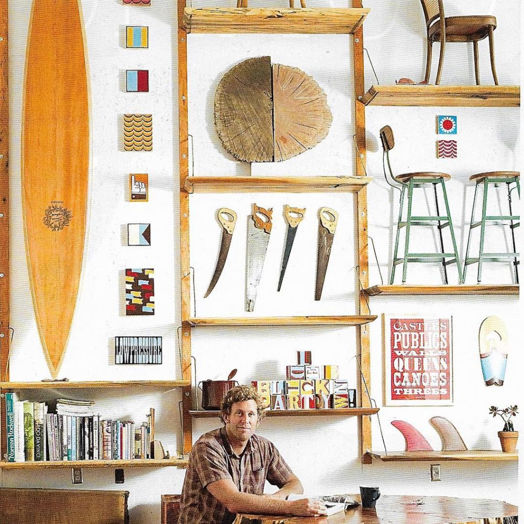 Love this guy! Danny Hess shapes surfboards out of recyclablehellip