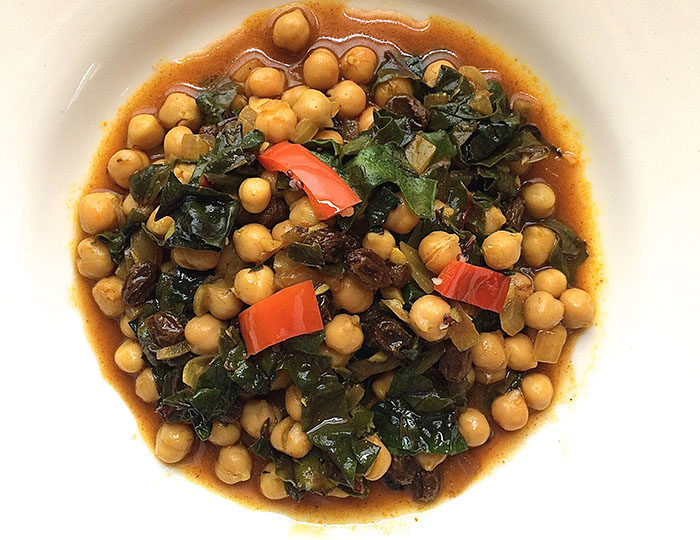 Moroccan Spiced Chickpeas & Chard