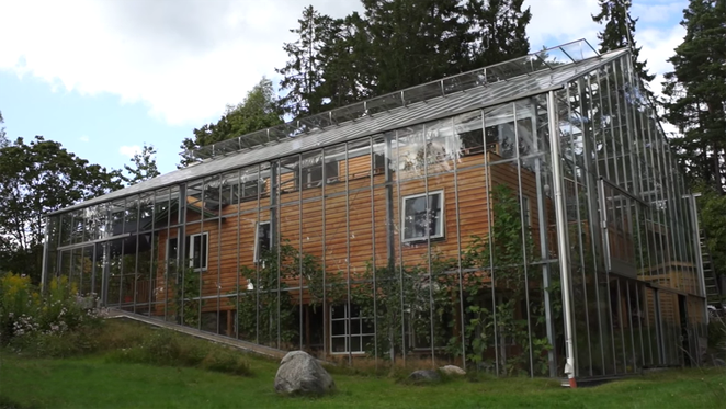 Eco-Home Inside A Greenhouse